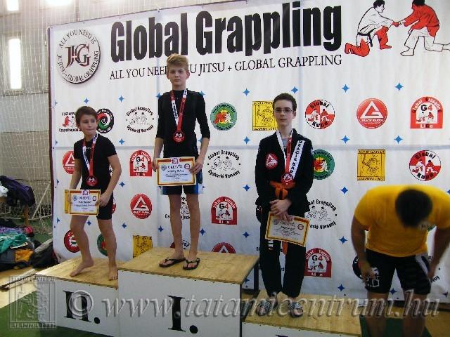 A Gi Grappling Ifjúsági 1 Fiú 45 kg kategória dobogója