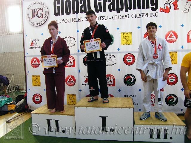 A Gi Grappling Ifjúsági 1 Fiú 60 kg dobogója
