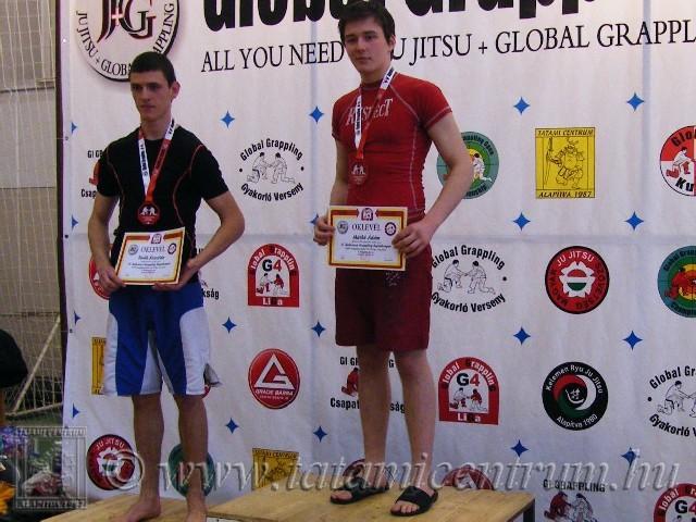 A NoGi Grappling Junior Fiú 70 kg dobogója