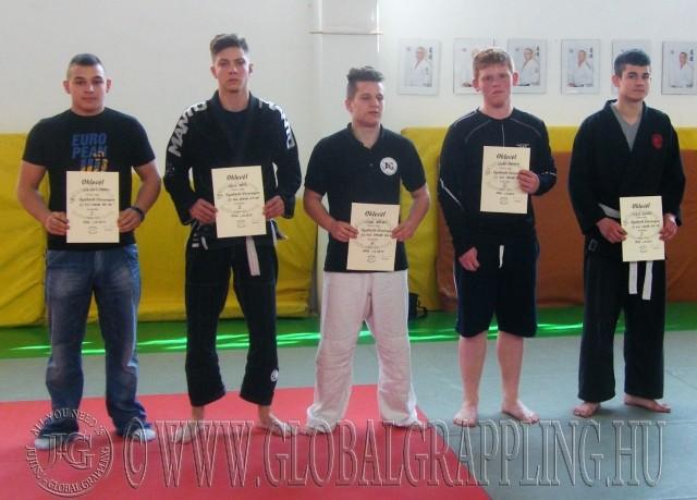 A Gi Fiú Junior 65+ kg kategória résztvevői