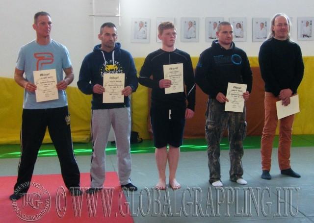 A Gi Felnőtt 80+ kg kategória résztvevői