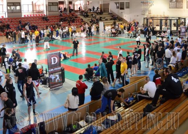 A közös grappling és MMA verseny négy tatamin és egy ketrecben zajlott