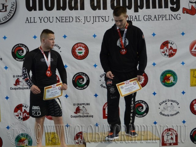 A NoGi Junior Fiú 95 kg dobogója