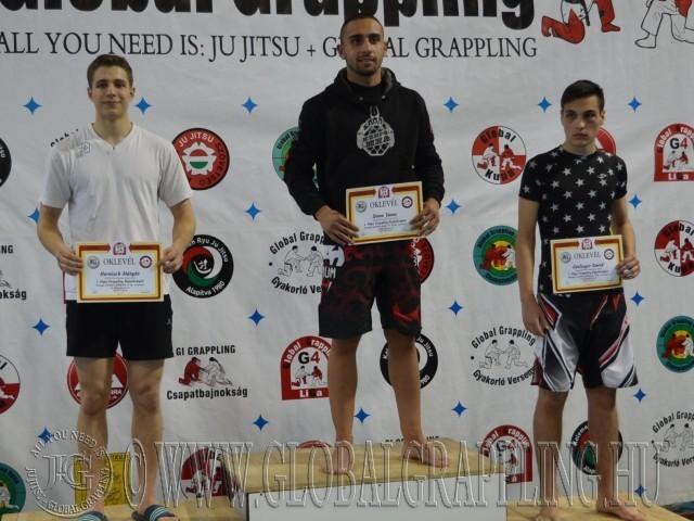 A Kesztyűs Küzdelem Junior Fiú 70 kg dobogója