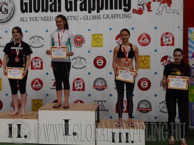 A NoGi Grappling Ifjúsági 2 Leány 60 kg. kategória dobogója