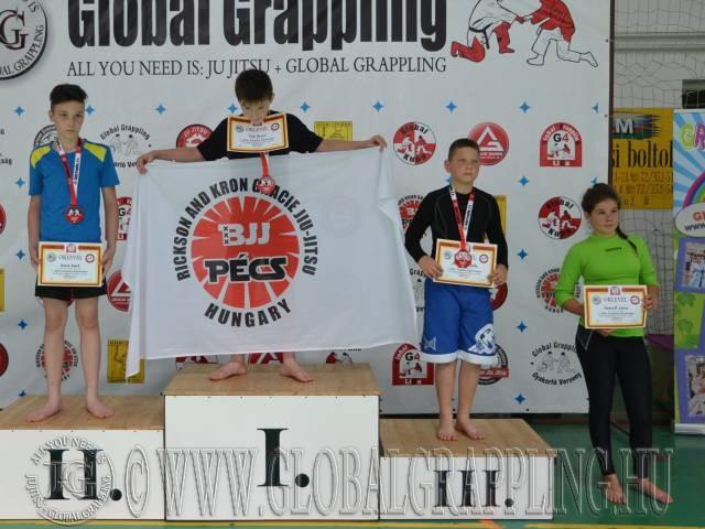 A NoGi Ifjúsági1 Fiú 50 kg. kategória dobogója