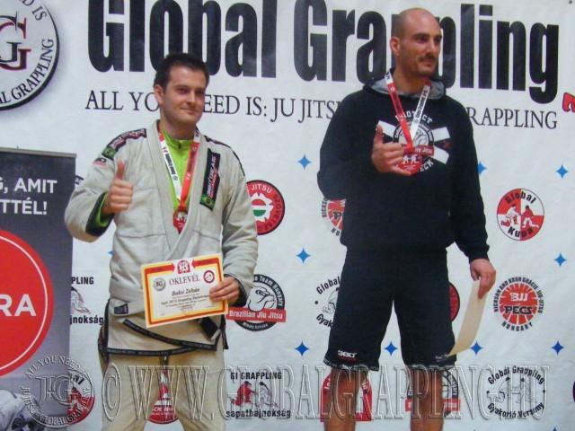 A Gi Grappling Master Férfi 90 kg kategória dobogója