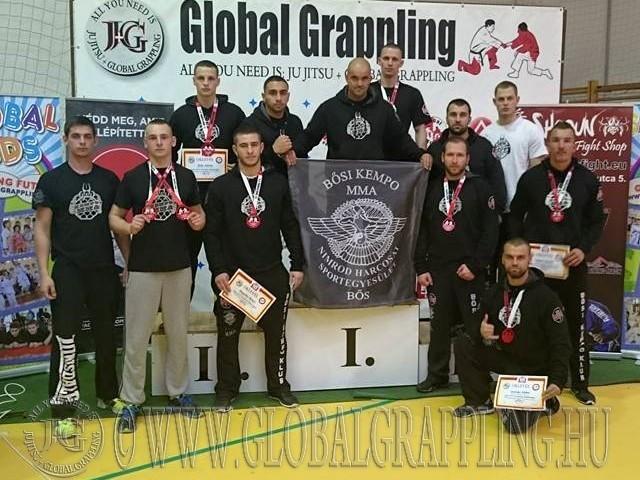A Bősi Kempo és MMA klub csapata a győri versenyen