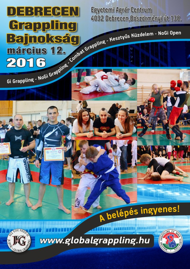 A Debrecen 2016 Grappling Bajnokság plakátja