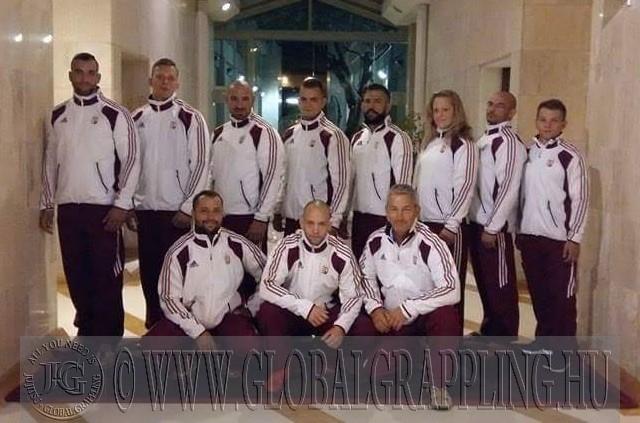 A magyar csapat tagjai a 2016 évi Európa Bajnokságon Rómában