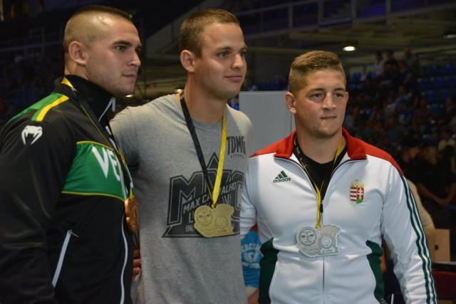 A NoGi-Cage Grappling Férfi 85 kg kategória győztesei