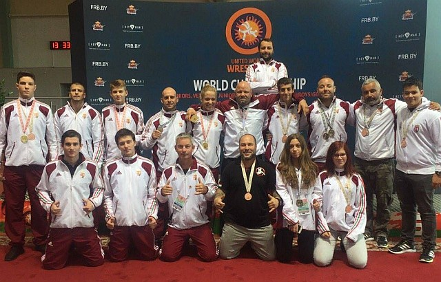 A magyar csapat tagjai a 2016 évi Világbajnokságon Minszkben