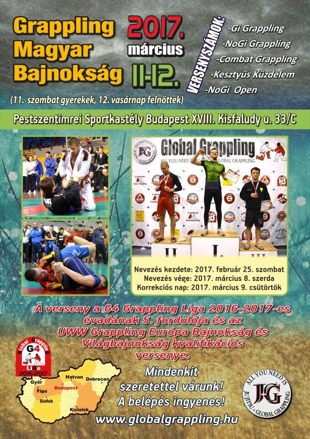A 2017 évi Grappling Magyar Bajnokság plakátja