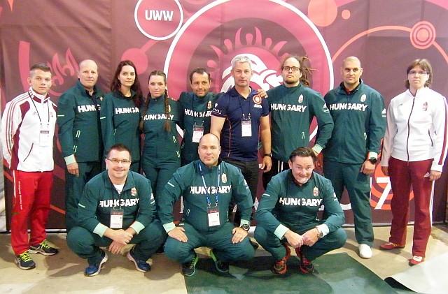 A magyar csapat tagjai a 2017 évi Európa Bajnokságon Újvidéken