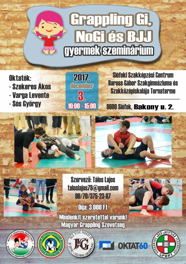 A szeminárium plakátja