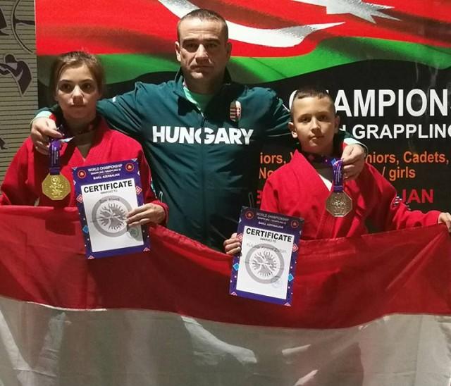 Tóth Alexa, Sós György és Kulcsár Kristóf a Világbajnokságon Bakuban