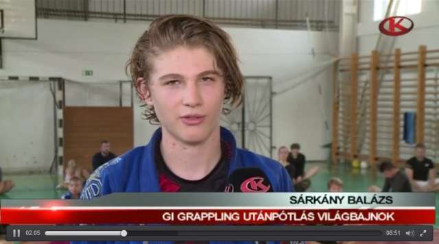 Sárkány Balázs a Kapos TV sportmagazinjában