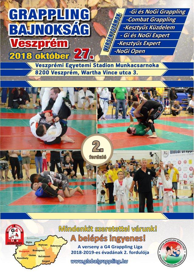 Következő fordulónk, a Veszprém 2018 Grappling Bajnokság plakátja
