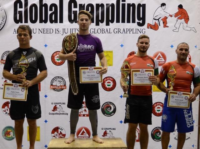 A NoGi Férfi 77 kg. kategória dobogója