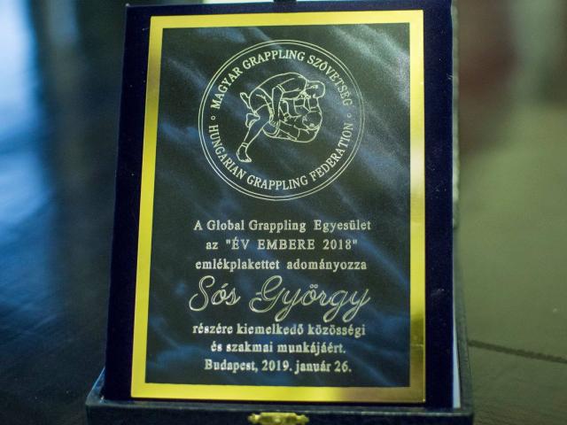 Az Egyik ÉV EMBERE 2018 plakettet Sós György kapta. Gratulálunk!