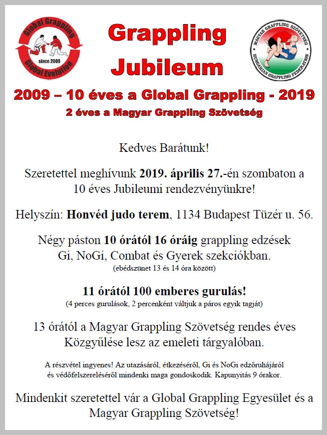 A Grappling Jubileum plakátja