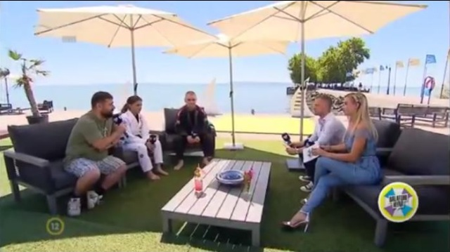 Tóth Alexa, Száz Richárd és Tálos Lajos a Duna Tv Balatoni Nyár című műsorában
