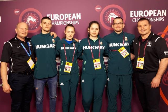A magyar csapat a februári római Európa Bajnokságon